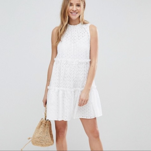 innovative design best authentic luxury aesthetic ASOS Broderie White Eyelet Lace Trapeze Dress